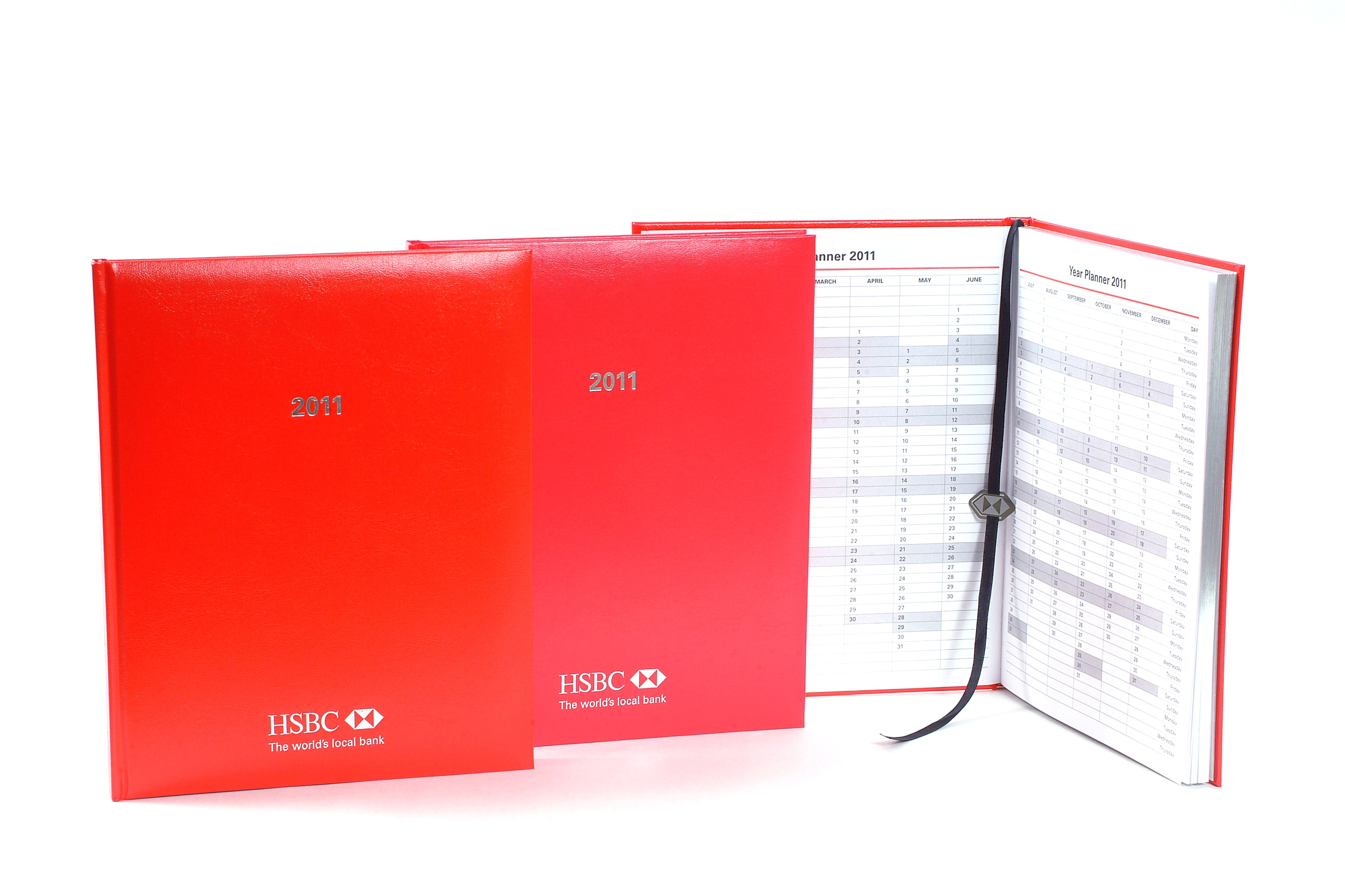 HSBC Bank (Taiwan) Limited / 2011 diary and bookmarks - SBK